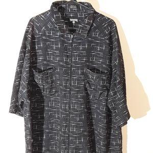 Black Rocawear zip-up shirt